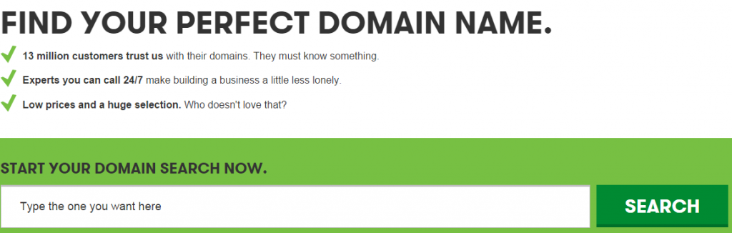 Go Daddy Domain Search
