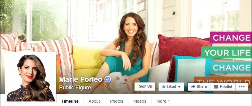 Marie Forleo Facebook Cover