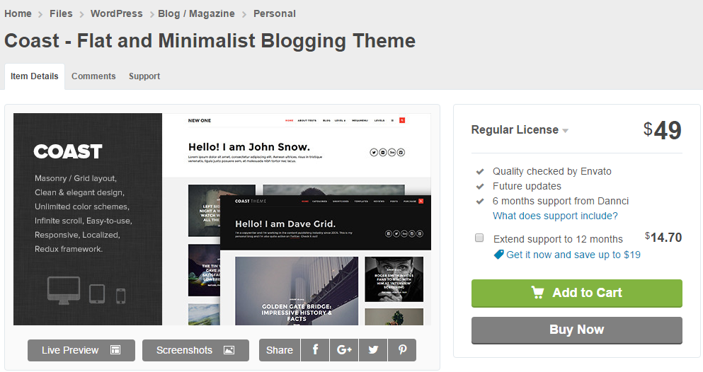Themeforest.net Blog Theme