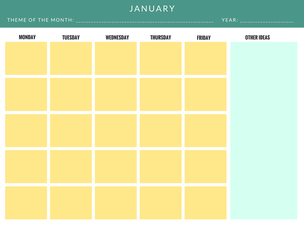 Editorial Calendar Template Example