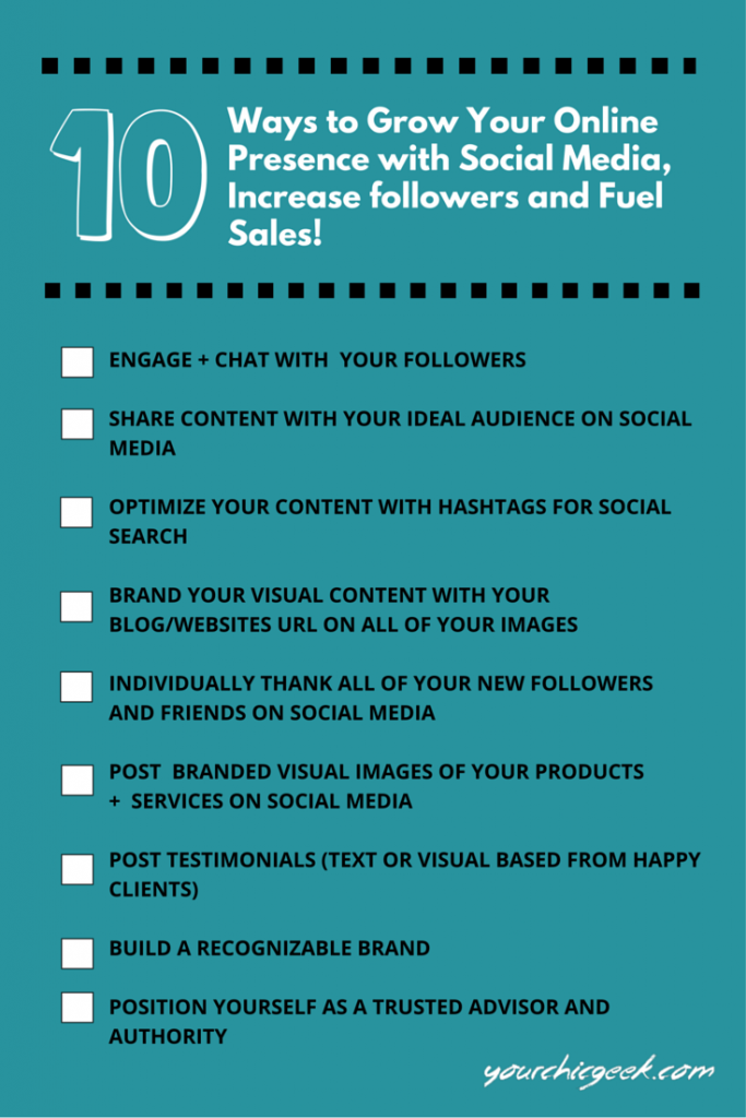 Grow your online presence with Social Media