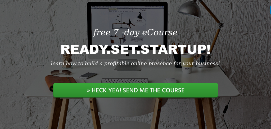 Landing Page for a Free eCourse I am promoting