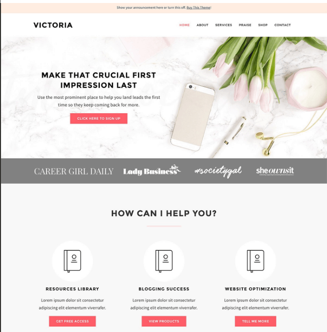 Victoria Theme by Bluechic